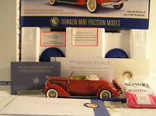 1936 Ford Cabriolet LIMITED EDITION  by Franklin Mint, B11C389, NEW!