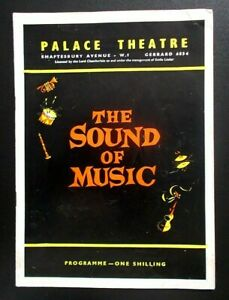 The Sound of Music programme Palace Theatre 1962 Jean Bayless Roger Dann 190462