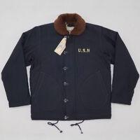 BOB DONG USN N-1D Deck Jacket 30s Military Uniform Winter Men Woolen Lining Coat