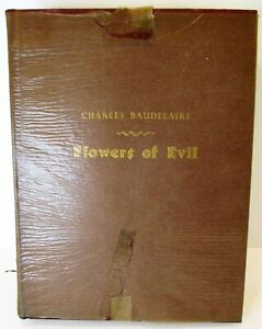FLOWERS OF EVIL Charles Baudelaire 1940 Limited Editions Club #933 illus Epstein