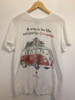 Volkswagen T Shirt Large White Christmas Top VW Camper Xmas Funny Collectors