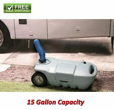 PORTABLE WASTE TRANSPORT 15 GALLON WASTE WATER STORAGE CAMPING RV CAMPER NEW!
