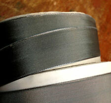 """Vintage 7/8"""" French Ribbon wire Solid 1yd Liquid Silver Made in France"""