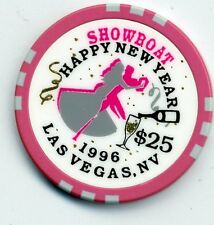 LAS VEGAS OBS. SHOWBOAT 1996  HAPPY  NEW YEAR $25 CASINO CHIP