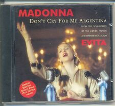MADONNA Don't Cry For Me Argentina RARE AUSTRALIAN POSTER CD Single