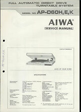 Aiwa aiwa cd player in vintage electronics ebay original factory aiwa ap d60hek turntable record player service manual publicscrutiny Image collections