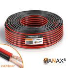 30m (3 Anelli da 10m) Filo doppio 2x 2,5mm² Cavo rosso/nero 2 filo