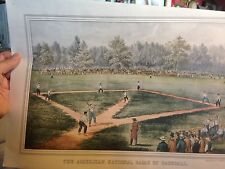 Currier & Ives,The American National Game of Baseball,vintage calendar print