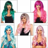 Mermaid Wig Adult Womens Halloween Costume Fancy Dress Cosplay