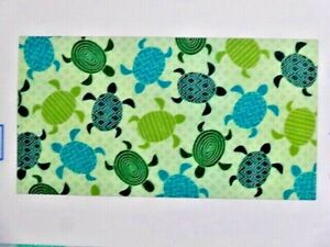 Sea Turtle Beach Towel 34 x 64 inches Green White Teal Seaturtle Sealife NEW