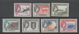 1956 Virgin Islands Definitive Issues set of 7 mint stamps