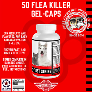 Flea Killer for Dogs 50 easy to use applications safe, fast, effective 57mg