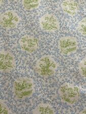 Blue and Green Toile Print Fabric P/Kaufmann BY THE YARD
