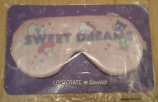 Exclusive Lootcrate Sanrio SWEET DREAMS Reversible SLEEP MASK! loot crate