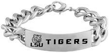 LOUISIANA STATE LSU TIGERS * Stainless Steel ID Bracelet with Logo  NCAA Jewelry