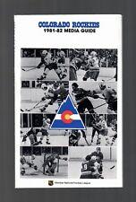 ORIGINAL 1981-82 COLORADO ROCKIES NHL MEDIA GUIDE YEARBOOK FACT BOOK HOCKEY