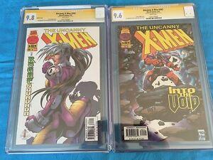Uncanny X-Men #342 reg and var set - Marvel - CGC 9.6 9.8 - Sig by Joe Madureira