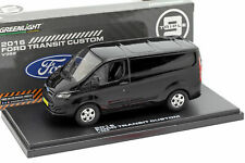 GREENLIGHT 51095 1/43 2016 FORD TRANSIT CUSTOM SHADOW BLACK