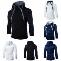 Sweater Fit Hoodies Warm Outwear Sweatshirt Winter Jacket Slim Hooded Men's Coat