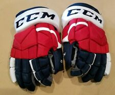 Jerry D'Amigo Pro Stock Game Used Worn Hockey Gloves -Rochester Americans Amerks