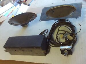 1963-4 FORD GALAXIE FACTORY RADIO REVERB UNIT WITH ORIGINAL SPEAKERS