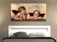 Quadro moderno Stampa su Tela Cotone cm.120x60 Angeli Raffaello Arredo Casa Arte