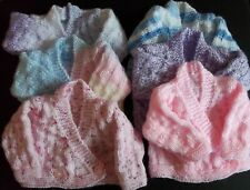 Hand knitted Early Baby Crossover Cardigans : 6 Shades