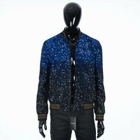 SAINT LAURENT PARIS 9900$ Dégradé Sequin-Embroidered Teddy Jacket In Wool Sablé