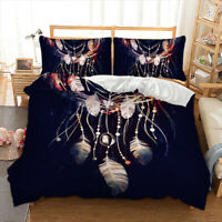 Dreamcatcher Duvet Cover with Pillow Cases Quilt Cover Bedding Set All Sizes