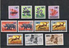 CONGO - 1962 SURCHARGÉES. SET, MNH