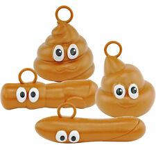 Holiday Poop Ornaments Turd Danglers Set of 4 Funny Christmas Festive Gag Gifts