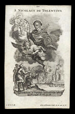 santino incisione1700 S.NICOLA DA TOLENTINO   klauber