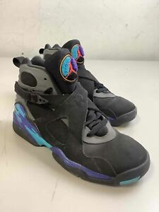Boy's Jordan 8 Retro Aqua 2015 Shoes Size 6Y