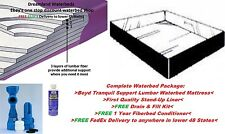 Factory Direct Pricing-QUEEN 99% Waveless Lumbar Waterbed Mattress and Liner