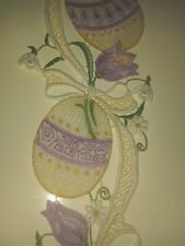 Plauener Stickerei Fensterbild Spitze   PlauenerstickereI  Ostern Ostereier