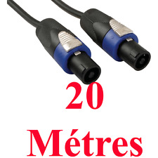 1 Câble Haut Parleur Speakon Mâle vers Speakon Mâle 2 x 2,5 mm² 20 METRES