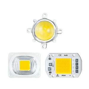 COB LED Light Beads 20W 30W 50W With Lens Reflector Lampshade 110V 220V