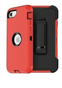 For iPhone SE 2020 Case with Screen Protector (Belt Clip Fit Otterbox Defender )