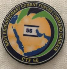 Vintage Navy Expeditionary Combat Forces Command Bahrain CTF 56 Coin