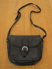 Vintage Black Cobb & Co Crossbody Cowhide Leather HandBag Small B30