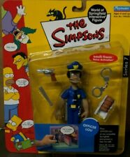 THE SIMPSONS WORLD OF SPRINGFIELD Officer Lou FIGURE NEW IN PACKAGE NIB Rare