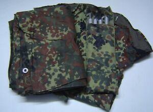 Bundeswehr Zeltplane mit Zubehör flecktarn + Varianten Einzelteile Poncho