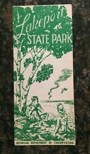 Vintage Michigan Brochure: Lakeport State Park, 1949