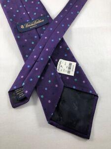 NEW BROOKS BROTHERS Silk Tie ~ $95 NWT Purple Twill Polka Dot Pattern 4197