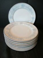 """Mikasa Fine China Dresden Rose L9009 8 Salad Plates Blue Flowers 7 1/2"""" Wide"""
