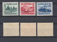 GERMAN REICH 1939 Automobile Exhibition Overprinted Mint * B141-B143 Mi.695-697