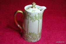 """D&Co Delinieres France (Hand Painted signed?) 4 3/4"""" LIDDED CREAMER"""