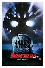 "FRIDAY 13th VI JASON LIVES REPRO UK VIDEO SHOP POSTER 30X20"" Slasher FREE P&P"
