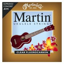Martin M600 Ukulele Strings Soprano/Concert .0191 - .0216 Clear Fluorocarbon