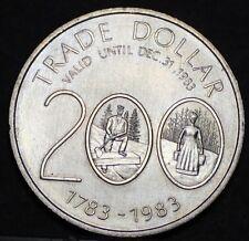 Musquodoboit Nova Scotia Canada 200th Anniversary Trade Token Dollar 1983~UNC